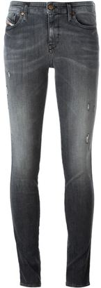 Diesel stonewashed skinny jeans $174.17 thestylecure.com