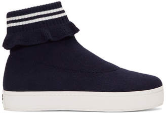Opening Ceremony Navy Bobby High-Top Slip-On Sneakers