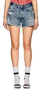 Moussy Women's Chester Distressed Cutoff Denim Shorts - Blue