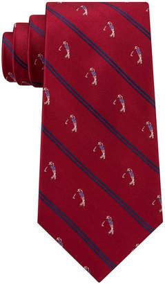 Club Room Men's Stripe Golfer Silk Tie, Created for Macy's