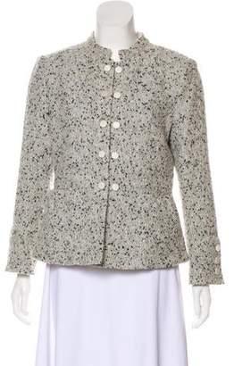 Armani Collezioni Collarless Long Sleeve Jacket