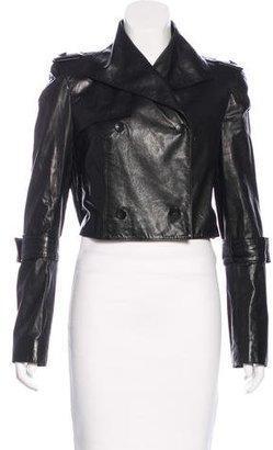Rachel Roy Leather Cropped Jacket $325 thestylecure.com