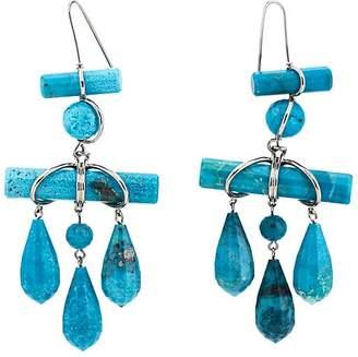 Women's Imitation-Turquoise Drop Earrings