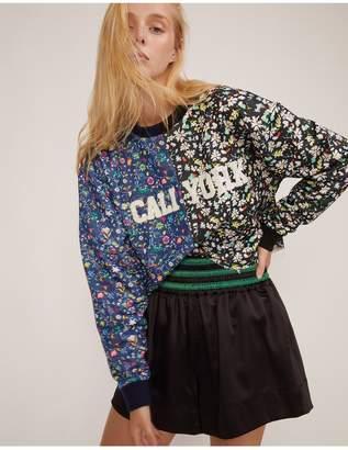 Cynthia Rowley Crxbandier Caliyork Floral Crop Sweatshirt