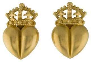 Kieselstein-Cord Royal Heart Earclips