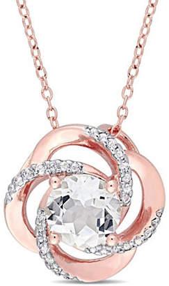 CONCERTO Sterling Silver White Topaz Pendant Necklace