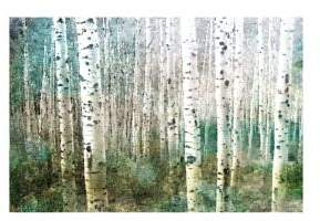 Parvez Taj Aspen Green Wrapped Canvas Print