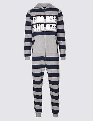 Marks and Spencer Pure Cotton Striped Onesie