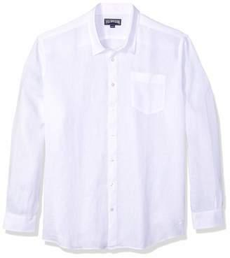 Vilebrequin Men's Solid Linen Shirt-L