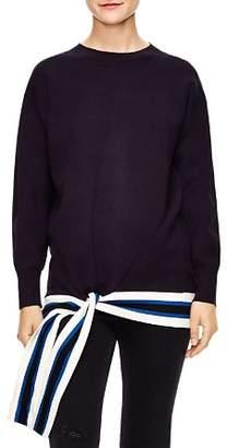Sandro Pampa Tie-Hem Sweater