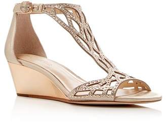 Vince Camuto Imagine Jalen Metallic Rhinestone Cutout Wedge Sandals