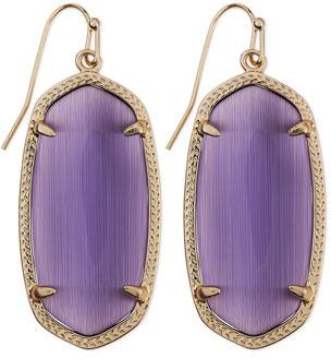 Kendra Scott Gold-Plated Elle Earrings, Purple