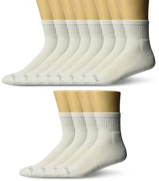 Fruit of the Loom Men's Big-Tall 12 Pair Big & Tall Half Cushion Ankle Sock Sockshosiery,