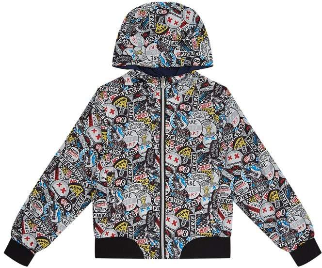 Badge Print Jacket