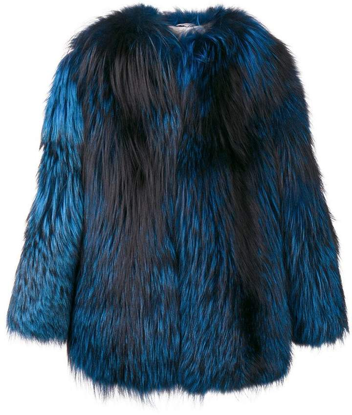 Numerootto contrast oversized jacket