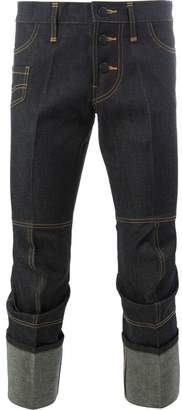 Christopher Nemeth cropped roll-up trousers