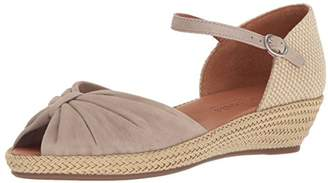 Gentle Souls Kenneth Cole Women's Lucille Low Wedge Espadrille Sandal Sandal