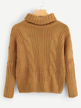 Shein High Neck Solid Sweater