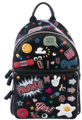 Anya Hindmarch Mini All Over Wink Stickers Backpack