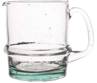 Canvas Moroccan Water Jug - Clear/Aqua