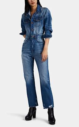 NSF Women's Amina Distressed Denim Jumpsuit - Blue