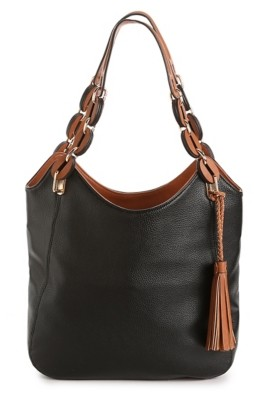 Kate + Alex Cuffaro Woven Handle Shoulder Bag