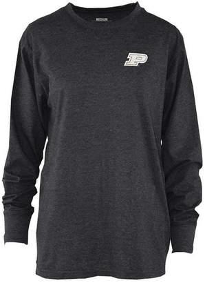 Royce Apparel Inc Women's Purdue Boilermakers Melange Long Sleeve T-Shirt