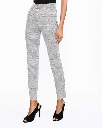 Express Mid Rise Houndstooth Plaid Skinny Pant