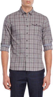 Michael Bastian Plaid Cotton Twill Shirt
