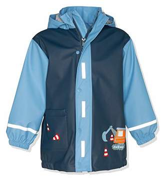 Playshoes Boy's Raincoat Building Site Rain Jacket