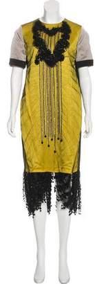 Antonio Marras Embellished Midi Dress