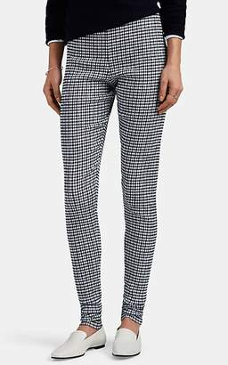 Jil Sander Women's Gingham Stretch-Knit Leggings - Navy