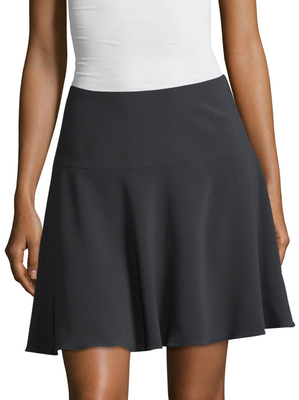 Crepe Canvas Fluted Skirt