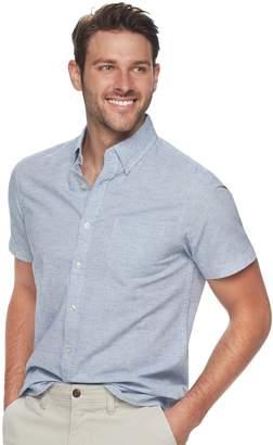 Sonoma Goods For Life Men's SONOMA Goods for Life Slim-Fit Textured Linen-Blend Button-Down Shirt