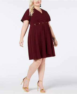 Love Squared Plus Size Grommet-Waist A-Line Dress