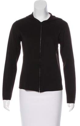 Calvin Klein Collection Hooded Wool-Blend Jacket