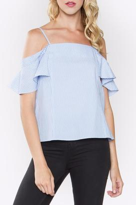 Sugarlips Striped Ruffle Top $56 thestylecure.com