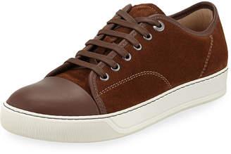 Lanvin Men's Matte Cap-Toe Low-Top Sneakers