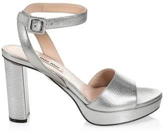 b83512c6c Miu Miu Platform Heel Sandals For Women - ShopStyle UK