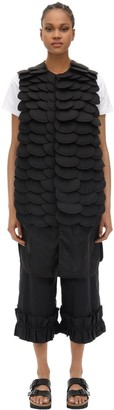 Moncler Genius NOIR IRIDIUM EMBELLISHED LONG NYLON VEST