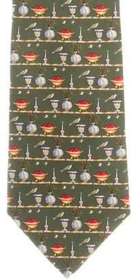 Salvatore Ferragamo Silk Patterned Tie