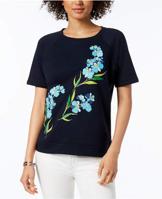 Tommy Hilfiger Embroidered Top, Created for Macy's