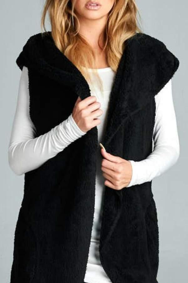 vanilla bay Black Sherpa Vest