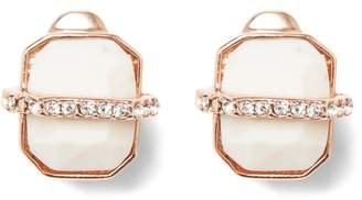 Vince Camuto Wrapped-howlite Clip-on Earrings