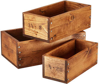 Amana Shops Wooden Shop Boxes (Set of 3)