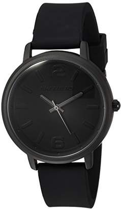 Skechers Wome's Ardmore Quartz Metal ad Silicoe Casual Watch