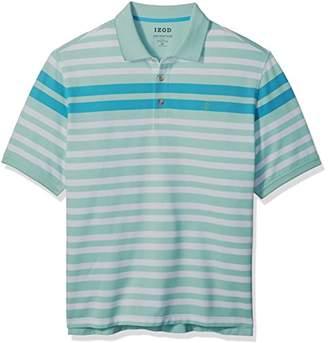 Izod Men's Big and Tall Short Sleeve Advantage Stripe Polo (Slim)