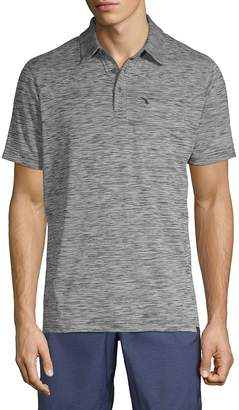 Hawke & Co Men's Heathered Short-Sleeve Polo
