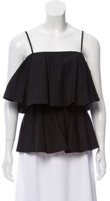 Raey Sleeveless Ruffled Top