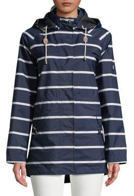 Barbour Classic Striped Hooded Raincoat